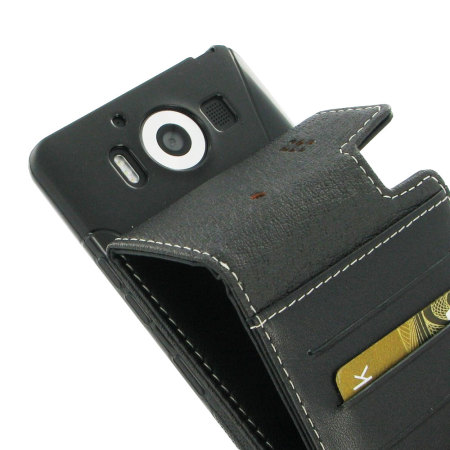 pdair deluxe leather lumia 950 flip case black