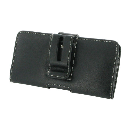 PDair Horizontal Leather Lumia 950 Pouch Case - Black