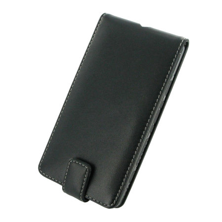 PDair Deluxe Leather Lumia 950 XL Flip Case - Black