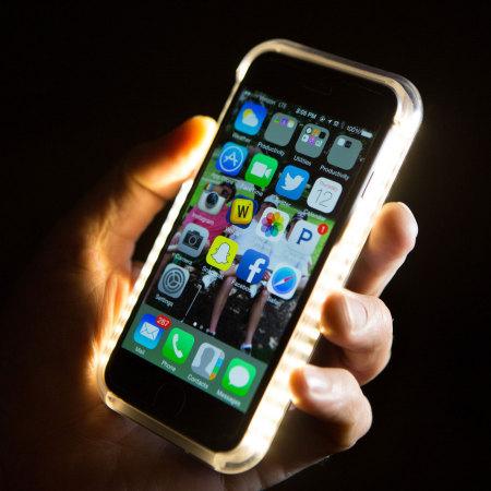 coque iphone 6s plus 6 plus lumee selfie light rose or. Black Bedroom Furniture Sets. Home Design Ideas