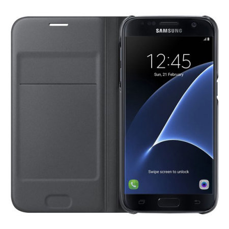 Official Samsung Galaxy S7 Flip Wallet Cover - Black