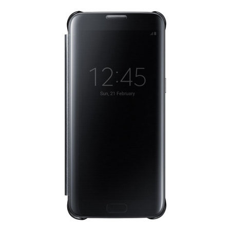 Official Samsung Galaxy S7 Edge Clear View Cover Case - Black