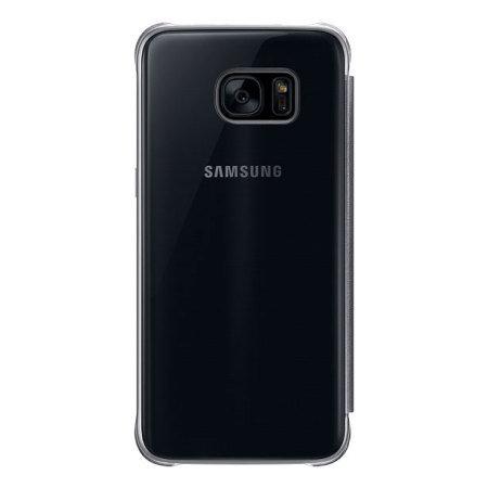 Funda Oficial Samsung Galaxy S7 Edge Clear View - Negra