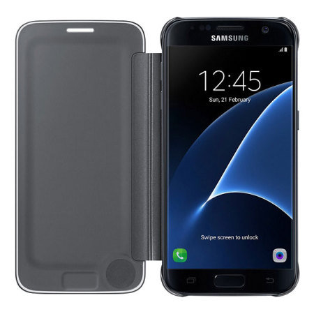 Official Samsung Galaxy S7 Clear View Cover Case - Black