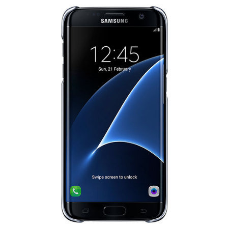 Funda Official Samsung Galaxy S7 Edge Clear Cover - Negra