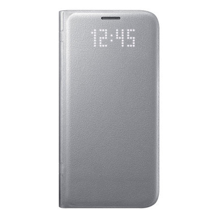 Official Samsung Galaxy S7 LED Flip Wallet Cover - Silver