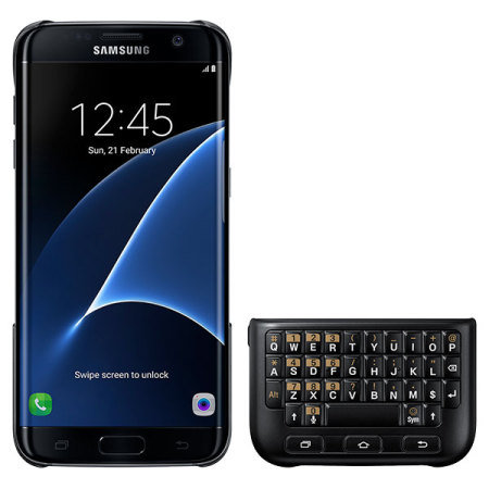 Official Samsung Galaxy S7 Edge QWERTY Keyboard Cover - Black