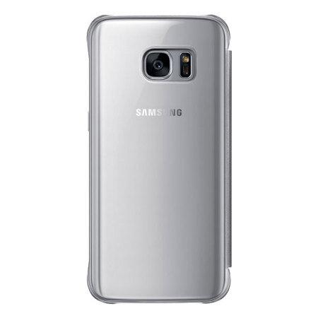 Official Samsung Galaxy S7 Clear View Cover Case - Silver
