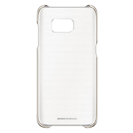 Funda Official Samsung Galaxy S7 Edge Clear Cover - Oro