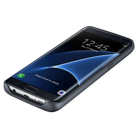 Official Samsung Galaxy S7 Edge Wireless Charging Battery Case - Black