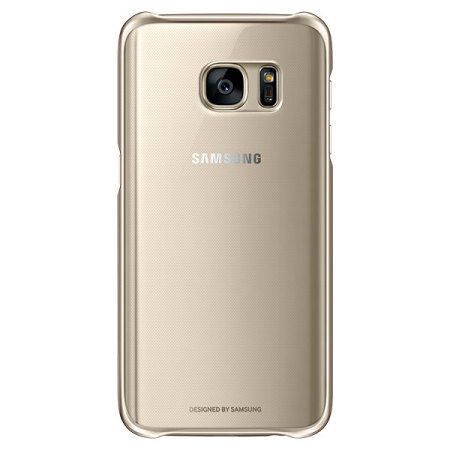 Official Samsung Galaxy S7 Clear Cover Case - Gold
