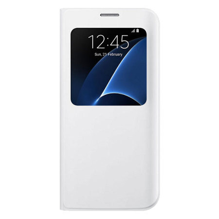 official samsung galaxy s7 edge s view cover case white