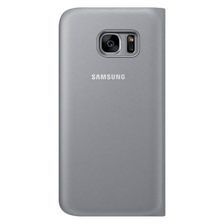 Official Samsung Galaxy S7 S View Premium Cover Case - Silver
