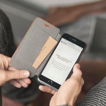 woodcessories ecoflip comfort wooden iphone 6s6 case walnut far off price