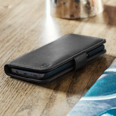 Olixar Genuine Leather Samsung Galaxy S7 Wallet Case - Black