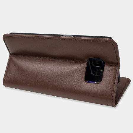 olixar genuine leather samsung galaxy s7 edge wallet case brown