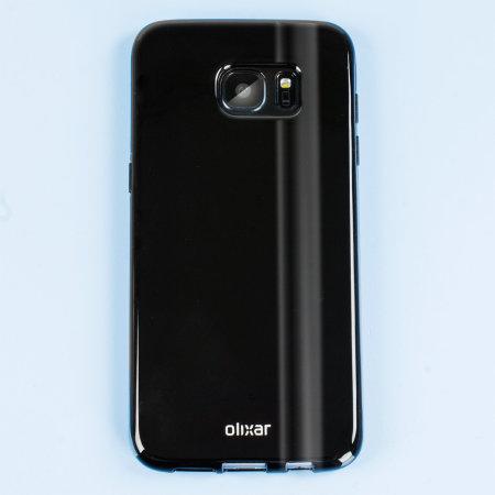 flexishield samsung galaxy s7 edge gel case solid black
