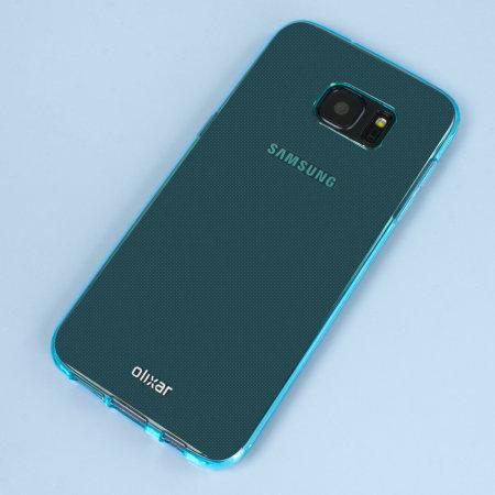 flexishield samsung galaxy s7 edge gel case blue