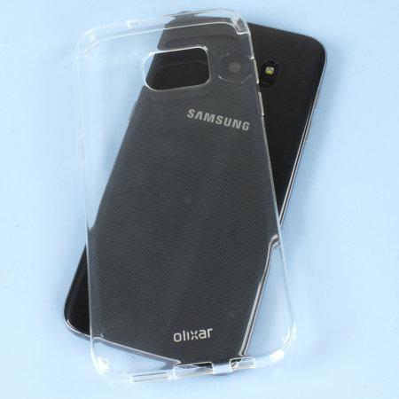 FlexiShield Samsung Galaxy S7 Edge Gel Case - Frost Wit