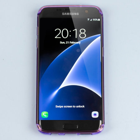 Olixar FlexiShield Samsung Galaxy S7 Edge Gel Case - Purple