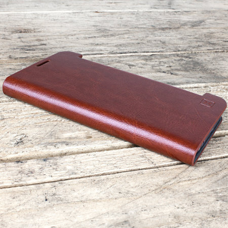 Olixar Leather-Style Samsung Galaxy S7 Edge Wallet Stand Case - Brown
