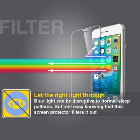 0c329adab73 Olixar iPhone 5S/5/5C Anti-Blue Light Tempered Glass Screen Protector