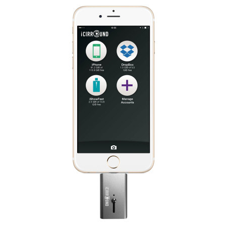 iShowFast 64GB Mobile Storage Drive for iOS Devices - Space Grey