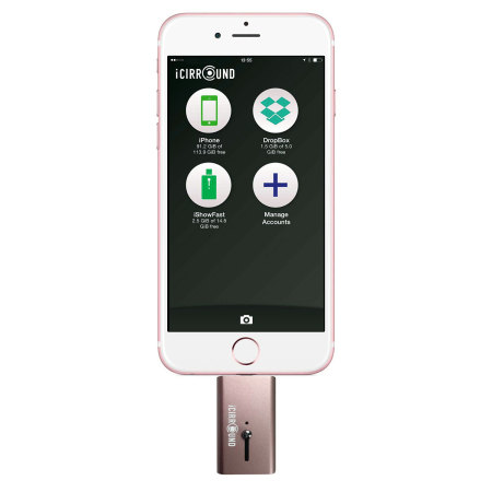 iShowFast 64GB Mobile Storage Drive for iOS Devices - Rose Gold