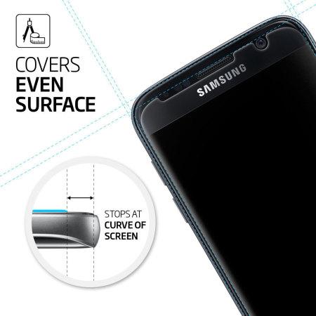 new style da06b 0cc18 Spigen GLAS.tR SLIM Galaxy S7 Tempered Glass Screen Protector