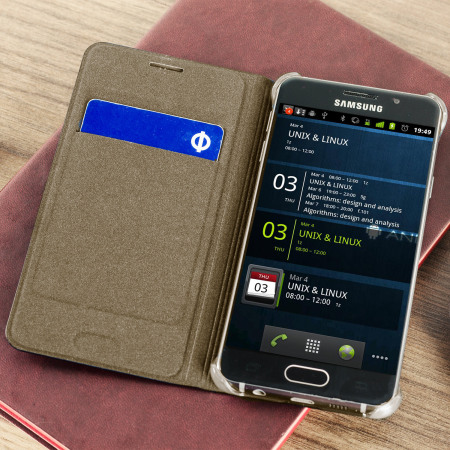 Official Samsung Galaxy A3 2016 Flip Wallet Cover Gold