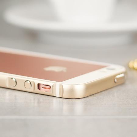 low priced 6e961 db8bb X-Doria Bump Gear Plus iPhone SE Aluminium Bumper Case - Gold