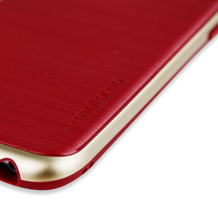 Motomo Ino Line Infinity iPhone 6S / 6 Case - Iron Red / Gold