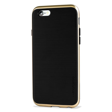 Motomo Ino Line Infinity iPhone 6S / 6 Case - Stone Black / Gold