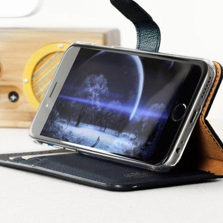 Hansmare Calf iPhone 6S / 6 Wallet Case - Navy