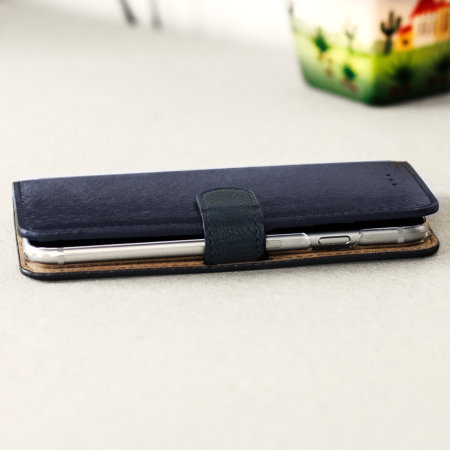 Hansmare Calf iPhone 6S / 6 Wallet Case - Navy
