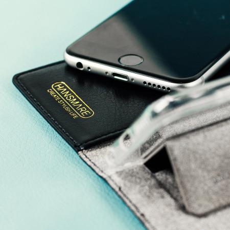 messages hansmare genuine leather iphone 6s 6 standing wallet case black order number 5006816