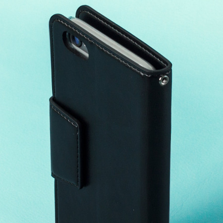 that hansmare leather style super slim iphone 6s 6 wallet case black Fill the frame