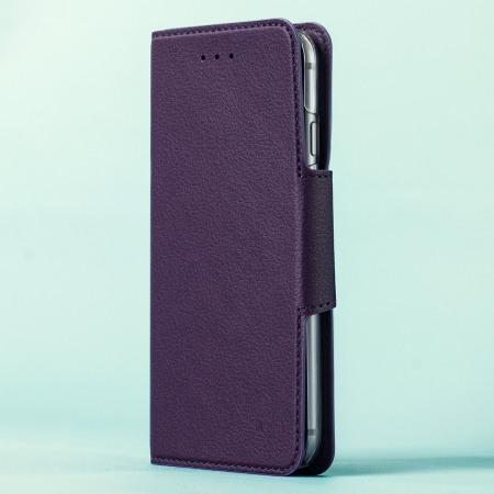 hansmare leather style super slim iphone 6s 6 wallet case black