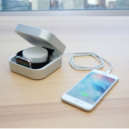 Amber Apple Watch Charging Case & USB Power Bank