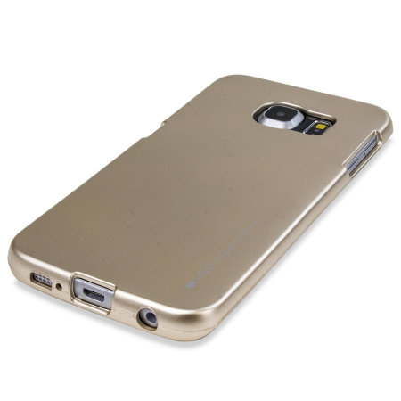 Mercury Silicone Finish Hard Case Samsung Galaxy S6 Edge Plus - gold