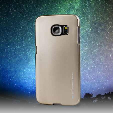 Mercury metallic silicone finish hard case samsung galaxy s6 gold