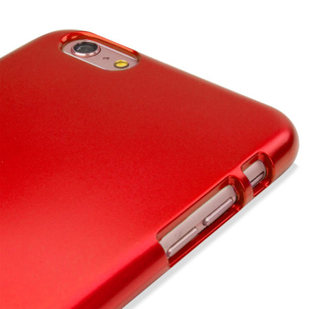 Mercury Goospery iJelly iPhone 6S / 6 Gel Case - Metallic Red