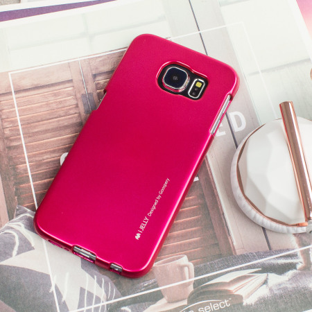 Mercury iJelly Metallic Case Samsung Galaxy S6 - Hot Pink