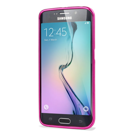 Mercury iJelly Samsung Galaxy S6 Edge Gel Case - Hot Pink