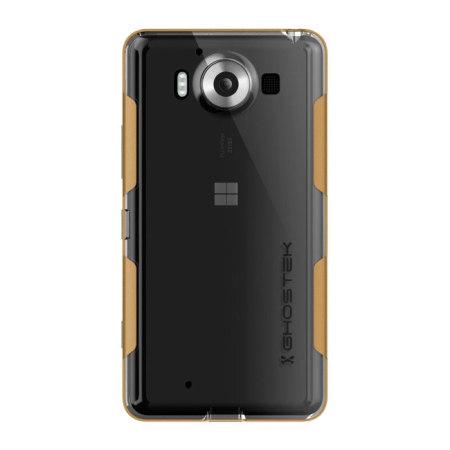 looks nice ghostek cloak microsoft lumia 950 tough case clear gold should also look