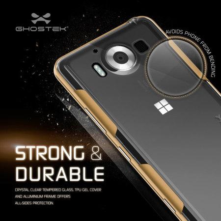 ghostek cloak microsoft lumia 950 tough case clear gold memory
