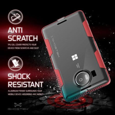 Ghostek Cloak Bumper Microsoft Lumia 950 XL Tough Case - Clear / Red