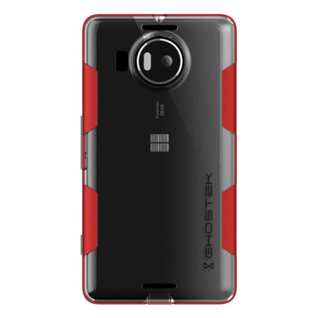 nothing wrong ghostek cloak microsoft lumia 950 tough case clear red you were roaming