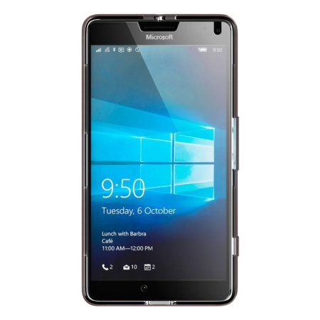 ghostek cloak microsoft lumia 950 tough case clear red