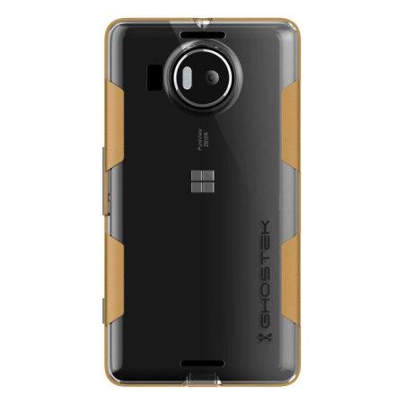 system ghostek cloak microsoft lumia 950 tough case clear gold type: cdma